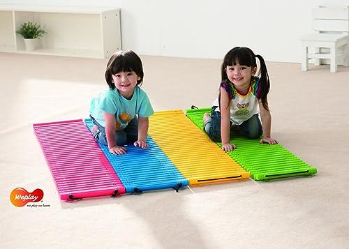 KL-Toys 4 Sprossenwege   Material  Thermoplastischer Kunststoff, Gummi   Ma je Weg  148 x 36 x 3 cm   max. Belastbarkeit  60 kg   3+