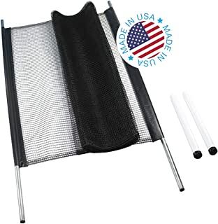 KidKusion Non-Retractable Driveway Safety Net, Black, 30' | Outdoor Barrier; Playtime Safety; Yard Safety