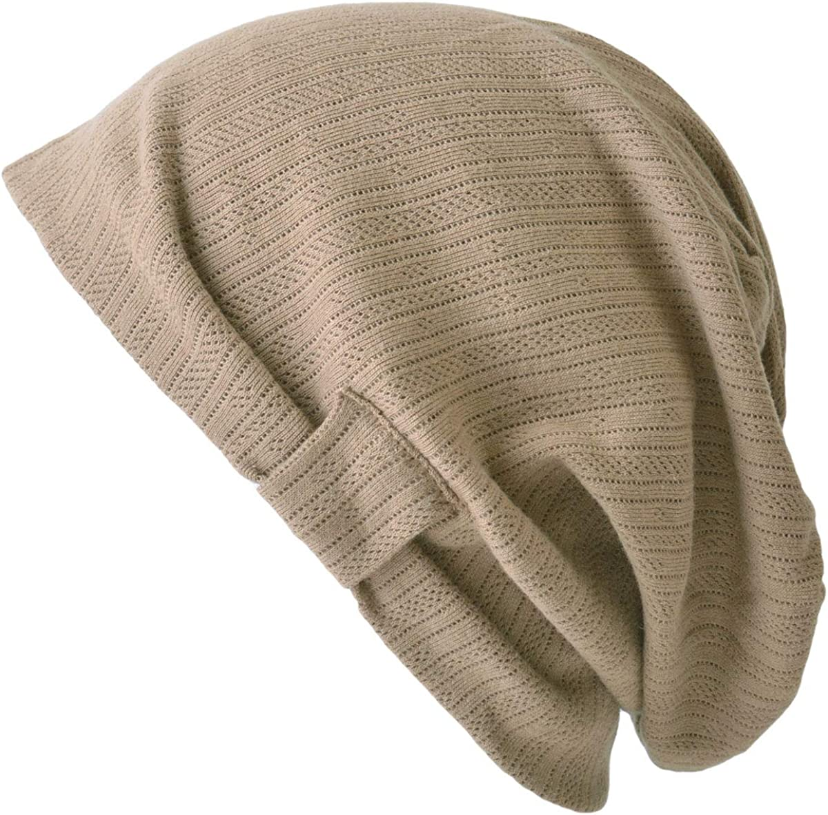 CHARM Womens Slouchy Summer Beanie - Mens Cotton Slouch Hat Chemo Cap