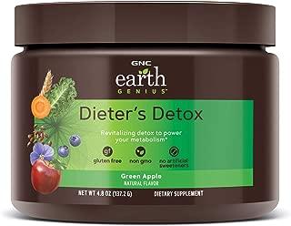 GNC Earth Genius Dieters Detox, Green Apple, 14 Servings