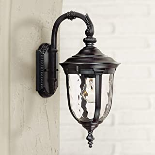 Bellagio Traditional Outdoor Wall Light Fixture Black 16.5