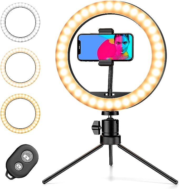 663 opinioni per Pipishell LED aro de luz por teléfonos portátiles de tres colores y 10 niveles