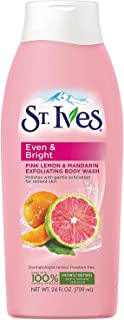 St. Ives Even & Bright Body Wash, Pink Lemon & Mandarin Orange 24 oz (Pack of 5)