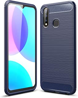 FanTing Case for vivo Y19, Anti-Slip Ultra Thin Shock Absorption Anti Scratch Protective, Cover for vivo Y19 -Dark Blue