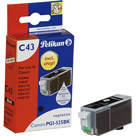 Pelikan C43 Druckerpatrone Ersetzt Canon Pgi 525pgbk Schwarz Bürobedarf Schreibwaren