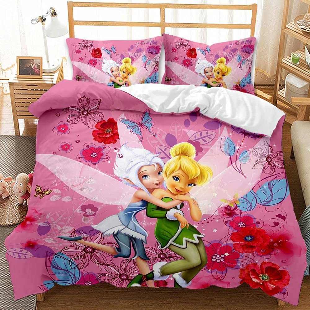 Haonsy Tinkerbell 70% OFF Outlet Bedding Set Ranking TOP13 Twin Tinkerbe Cartoon Kids 3D Size