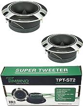 """$24 » 2 x Timpano TPT-ST2 4"""" Super Loud Tweeters Silver Titanium Bullet 480 Watts"""