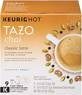 Tazo Chai Latte Black Tea, K-Cup, 9 ct (Packaging may vary)