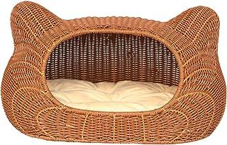 Pet bed Cat Litter Kennel pet nest Four Seasons Universal pet nest Rattan cat Litter Removable cat cage Kennel cat House c...