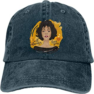 CVNJSDF Whitney Houston Adjustable Unisex Hat Baseball Caps Natural