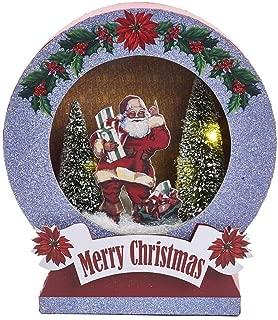 Kurt Adler Lighted Santa and Christmas Tree LED Tablepiece