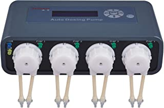 Jebao Doser 2.4 WiFi 4-Channel Auto Dosing Pump for Saltwater Reef Aquarium, Dark Grey