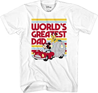 Mickey Mouse World's Greatest Dad Disneyland Graphic Adult T-Shirt