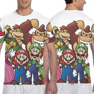 マリオ家族 メンズ 半袖 夏服 Tシャツ おしゃれ 3d プリント はワンマンデザイ Tシャツ日常用 メンズ スタイリッシュな 吸水速乾 シンプル おしゃれ 人気 無地 半袖 通勤 通学 運動 ティーシャツ