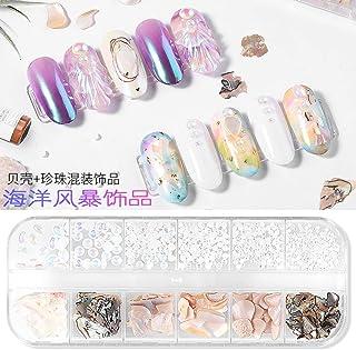 1 Box 3D Abalone Shell Irregular Nail Art Decorations UV Gel Flake Slider Nails Shimmer Pearl Jewelry Tips Manicure Polish