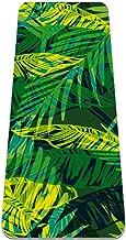 Tropisch Palm Exotisch Patroon Antislip Yoga Mat - Milieuvriendelijk TPE Dikke Fitness Oefenmatten Ideaal voor Pilates, Yo...