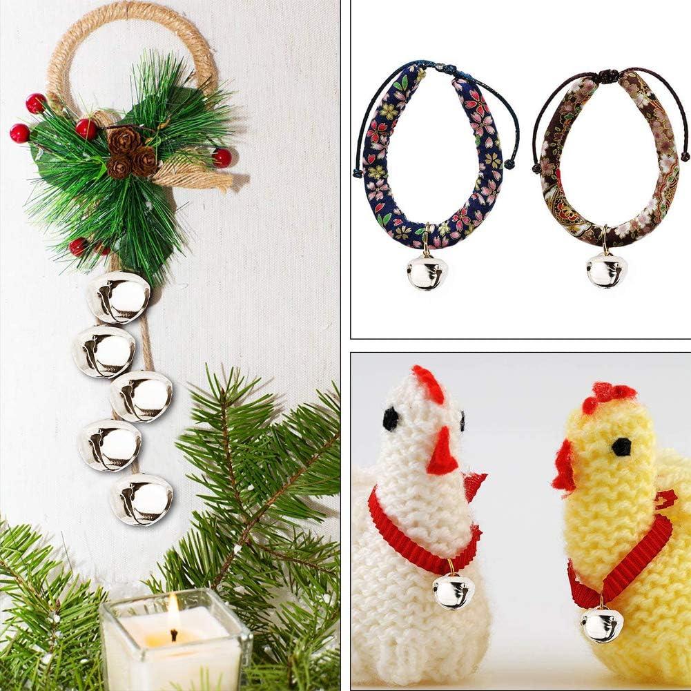 decoraci/ón navide/ña color variado Moscare 100 piezas de cascabeles de 25 mm para manualidades