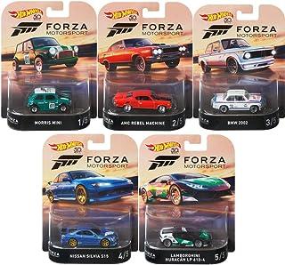 Hot Wheels Retro Entertainment Forza   5 Vehículos Set Premium   Mattel DMC55