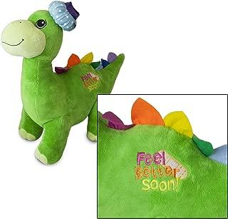 Feel Better Soon 18 inch Green Plush Dinosaur Digby
