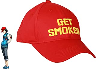 Shinya Oda Hat Get Smoked Red Baseball Cap Cosplay Accessory