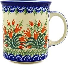 Polish Pottery Coffee Tea Mug 10 oz (Sprouting Tulips)