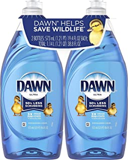 Dawn Ultra Dishwashing Liquid Dish Soap Original Scent, 19.4 Fluid Ounce (Pack of 2)