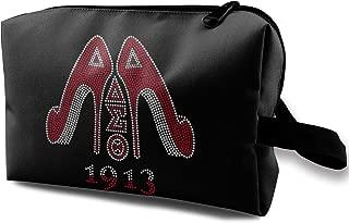 Delta Sigma Theta Cosmetic Bag,Travel Lazy Makeup Toiletry Bag