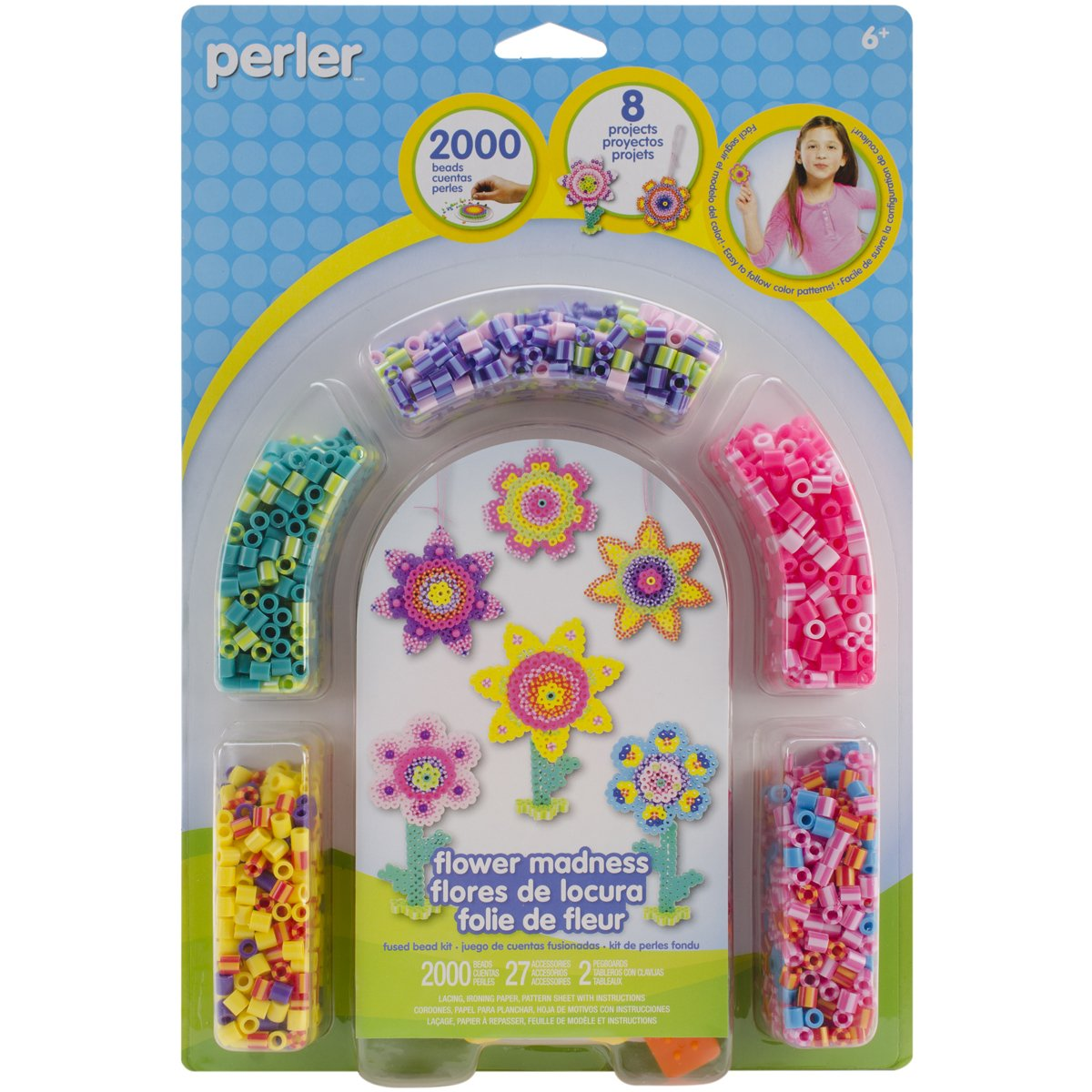 Perler Beads 'Flower Madness' Fuse Bead Activity Kit for Kids, 2029 pcs