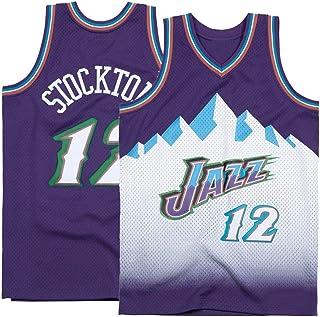 Saeniao Men's Stockton Shirts Jerseys 12 Basketball Adult Sports Athletics Retro John Purple