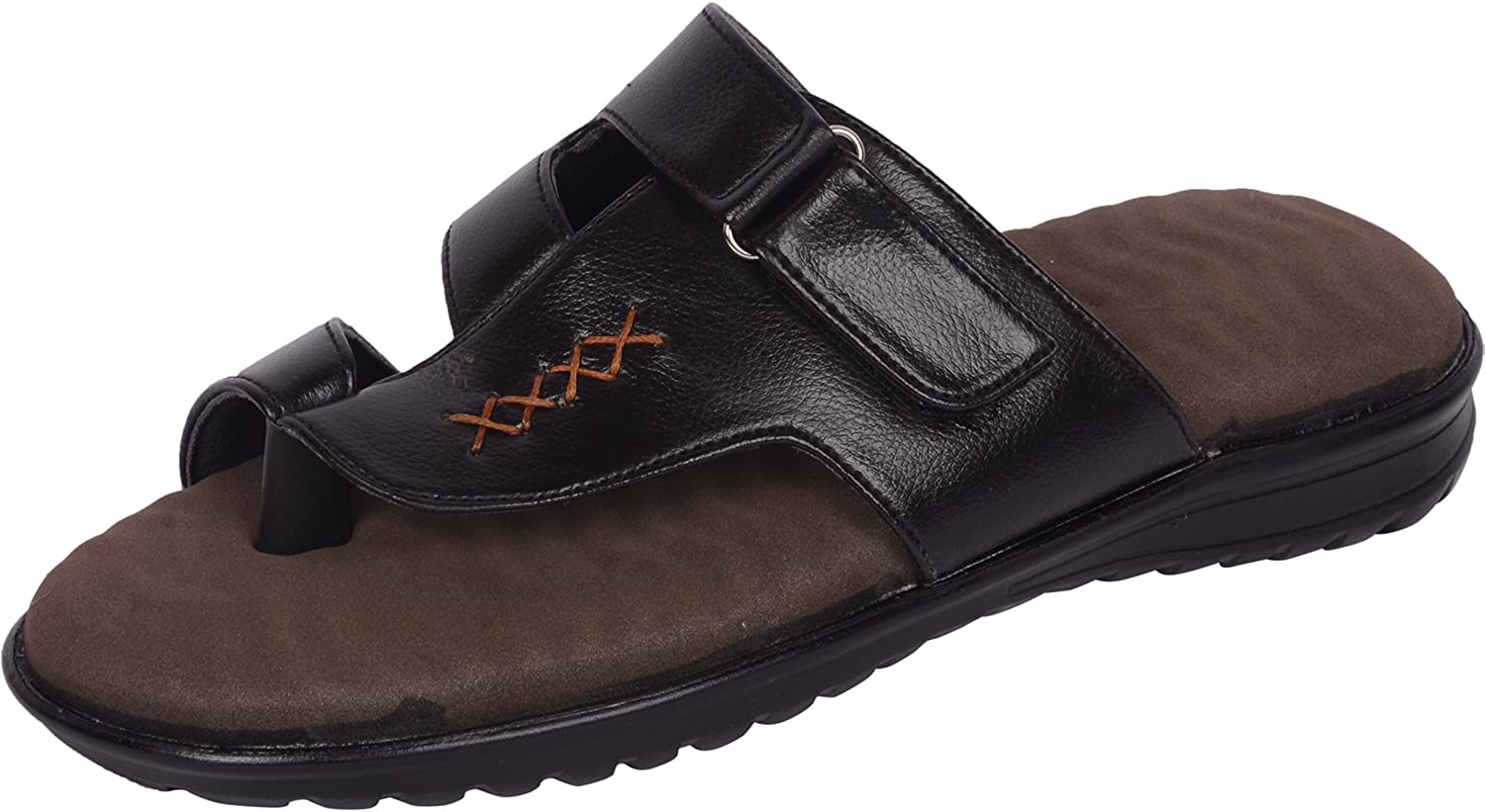 Vonzo Men Men schwarz Soft Doctor Chappal Therapy 01  aufregende Aktionen