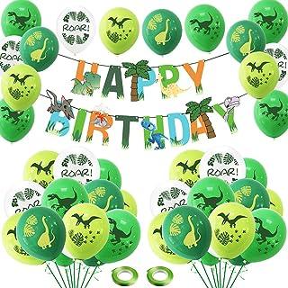 Decorazioni per Feste di Dinosauri,BETOY 39 Pezzi Kit di Palloncini di Dinosauro Banner di Compleanno Palloncini Foil Dino...