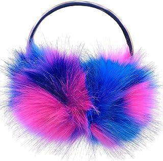 ZSWQ Orejeras de felpa de colores plegables para hombres y mujeres para mantener el calor y el viento en invierno