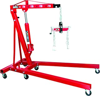 Torin Big Red Steel Engine Hoist / Shop Crane with Foldable Frame and Engine Leveler, 2 Ton (4,000 lb) Capacity