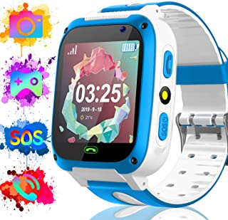 Watch Toy for Kids Boys Girls Toddler 3-12 Years Old - 12/24 H kid Smart Games Watch with Two-Way Call SOS Alarm Clock Games Camera Calendar, Child Smart Electronic Watches for Learning Birthday Gifts
