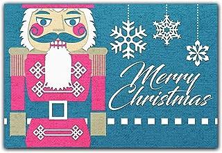 Christmas Doormat Nutcracker Christmas Decorations Christmas Rugs Entryway Rug Front Door Decor Front Porch Christmas Door...