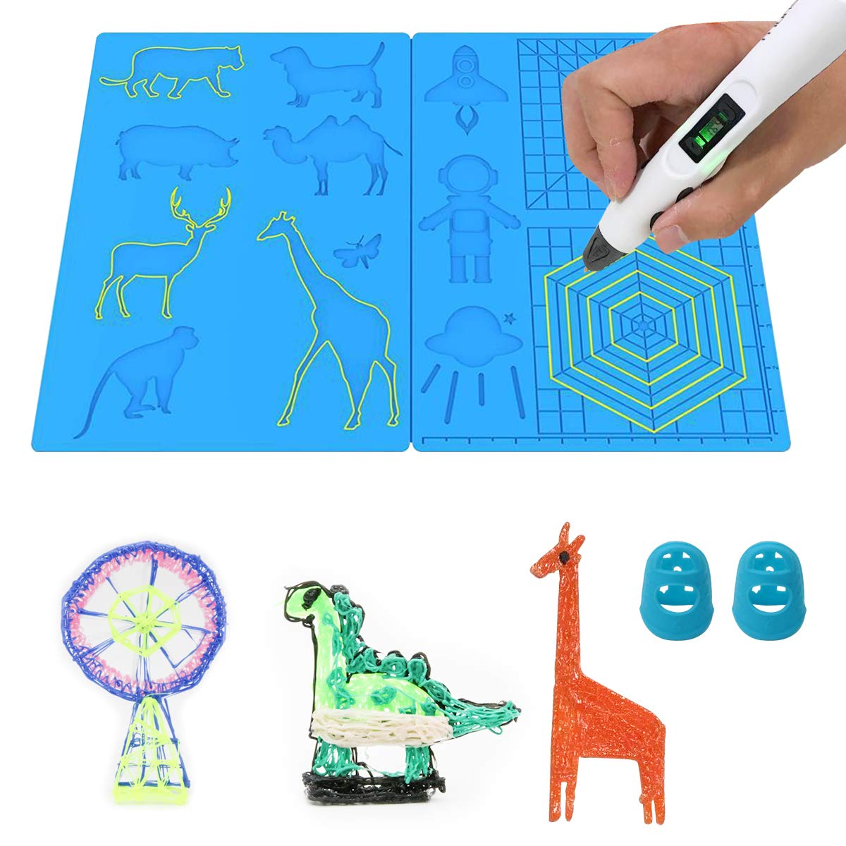 3D Pen Mat Large Colorado Springs Mall Multi-Shaped Silicone Basic Printing NEW before selling Te
