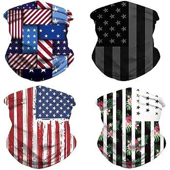 Flag UU Polaina de cuello de Enfriamiento Bufanda Máscara Facial proteger Bandana Headwrap Sol Negro EE