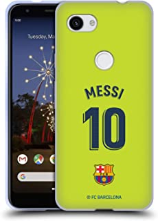 Official FC Barcelona Lionel Messi 2018/19 Players Away Kit Group 1 Soft Gel Case Compatible for Google Pixel 3a