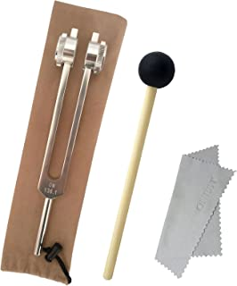 SurgicalOnline Tactical Black Set of 3 pcs Aluminum Sensory Tuning Forks C 128 512 + Taylor Percussion Hammer Mallet QIYUN Tuning Fork, A440Hz Tuning Fork - Standard A 440 Hz Violin Guitar Tuner Instrument with Soft Shell Case and Cleaning Cloth 432 Hz Tuning Fork QIYUN Tuning Fork, 4096 Hz Tuning Fork - Crystal Tuning Fork with Hammer for Healing Tuning Fork OM 136.1Hz Tuning Fork, Chakra Tuning Energy Forks, Effective for immune system and circulatio, Perfect Healing Musical Instrument.