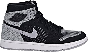 Jordan Air 1 Retro High Flyknit Big Kid's Shoes Black/Wolf Grey/White 919702-003 (4 M US)