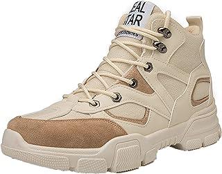 LangfengEU Bottes de Travail Vintage en Plein air Automne Hiver pour Hommes Mode à Lacets Chaussures de Marche décontracté...