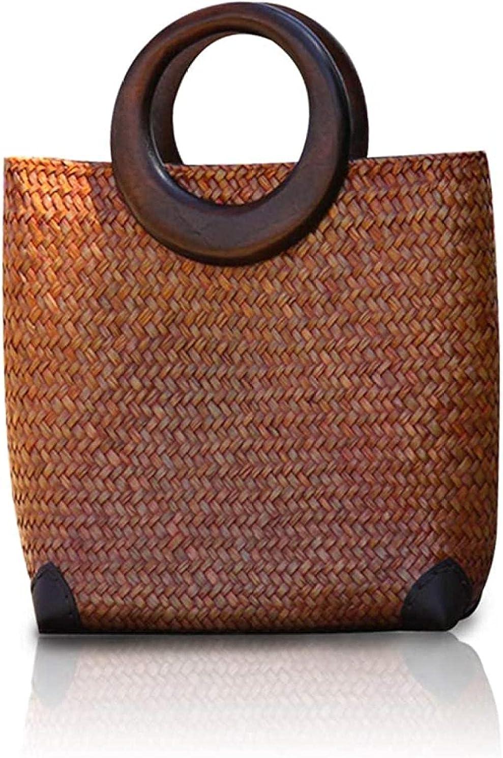 Hand-woven Womens Straw Phoenix Mall Large Boho Summer Bag Women Handbag Cheap sale for