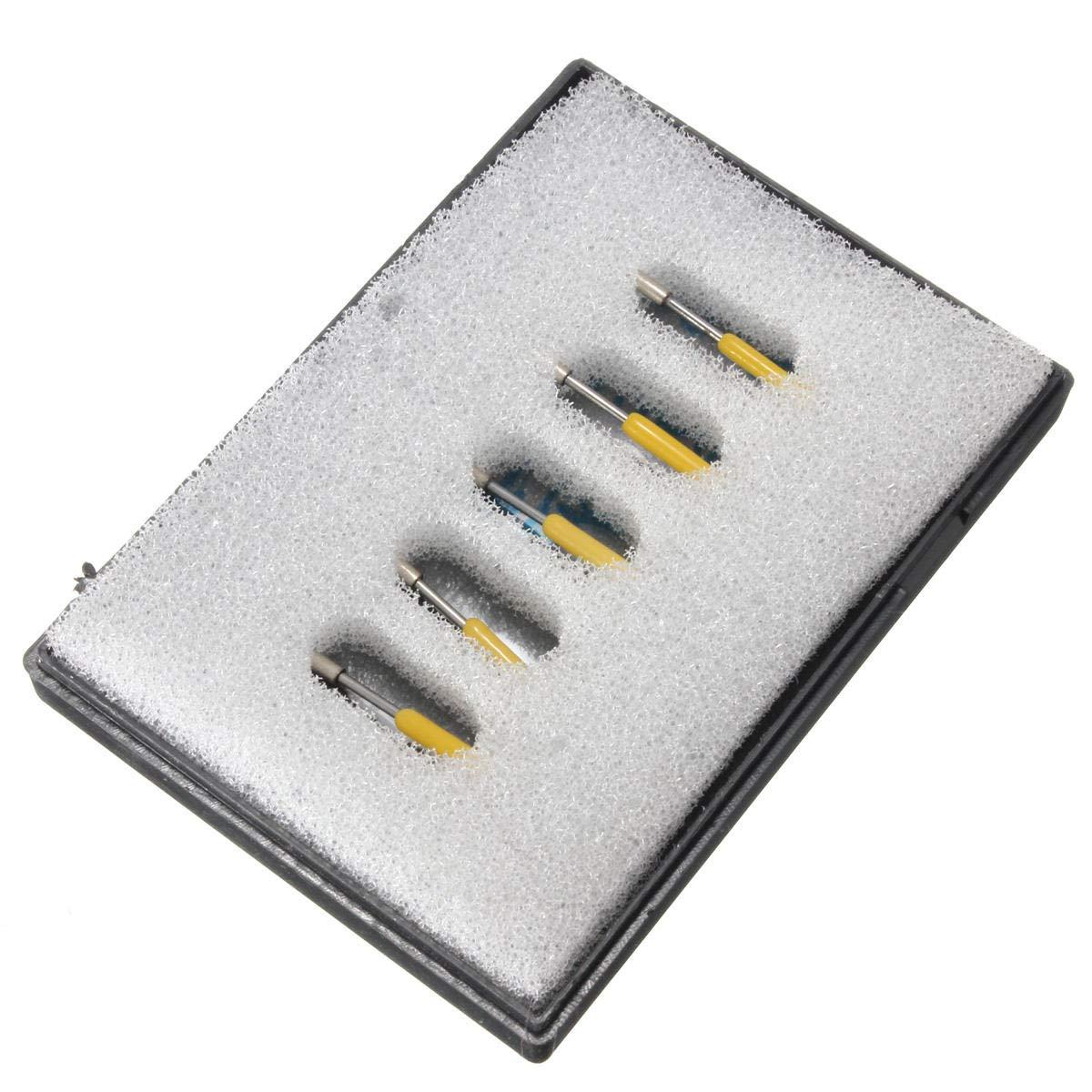 GIlH 5pcs 30 Grado de corte plotter de corte de vinilo cuchillo cuchillas de desplazamiento para Graphtec CB09 con muelles: Amazon.es: Bricolaje y herramientas