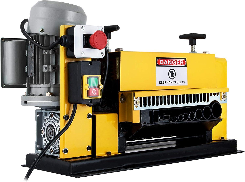 VEVOR Máquina Automática de Pelado de Cables 370W, Pelacables Eléctrico de 220V, Máquina Peladora de Cables con 11 Canales y 10 Cuchillas, Pelacables Eléctricos de Metal (1mm-38mm)