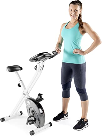 1edb2655c0b Marcy Foldable Upright Exercise Bike with Adjustable Resistance for Cardio  Workout & Strength Training in Pink