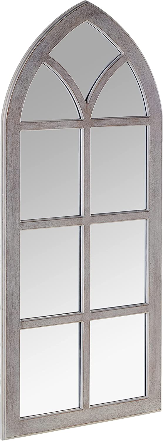 MCS Cathedral Windowpane Wall Gray New item Overall 19x44 Size Inch Mir Special price