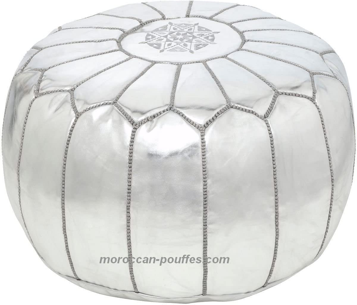 moroccan 55% OFF Max 50% OFF poufs leather luxury ottomans unstuff silver footstools