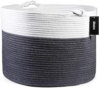 Woven Cotton Rope Basket,Elekin Large Toy Storage Baskets 17.7