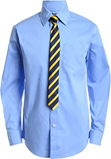 Izod Boys' Long Sleeve Dress Shirt with Tie