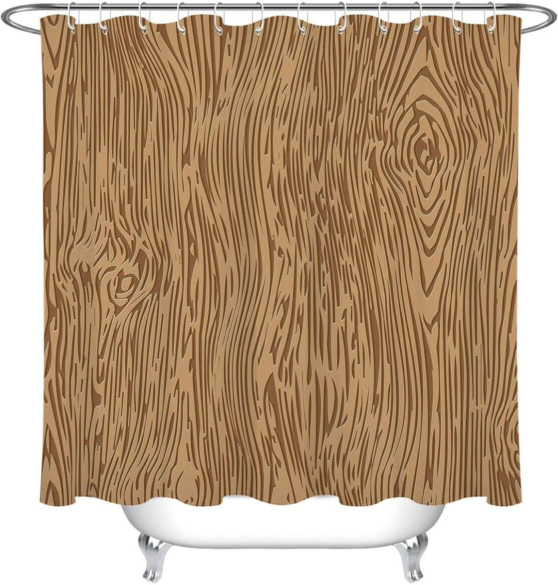 WGEMXC Curtain Bathroom lowest price Abstract Wood 40% OFF Cheap Sale Texture B